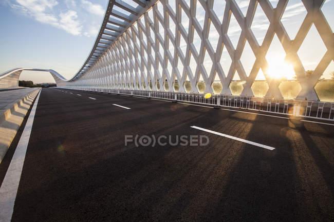 Struttura del ponte contemporaneo a Pechino, Cina — Foto stock