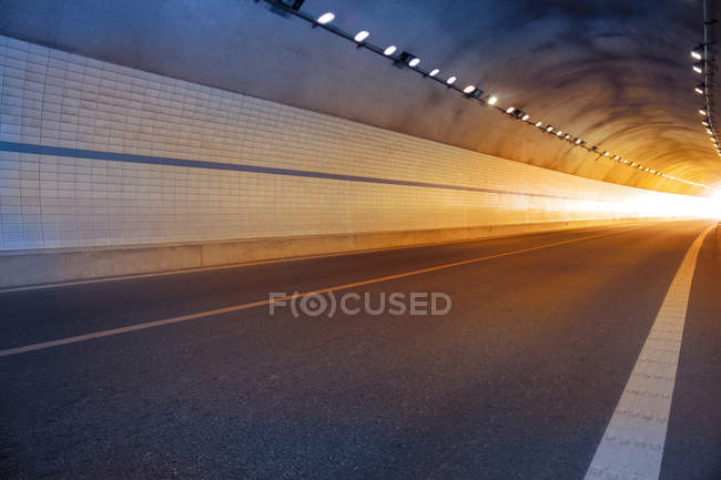 Urban scene of city tunnel in China — Stock Photo