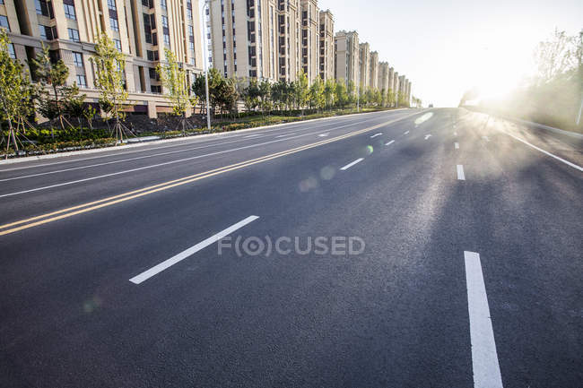 Urban scene of city road in China — Stock Photo