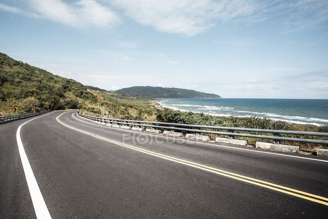 Прибережного шосе в Тайвань, Китай — стокове фото