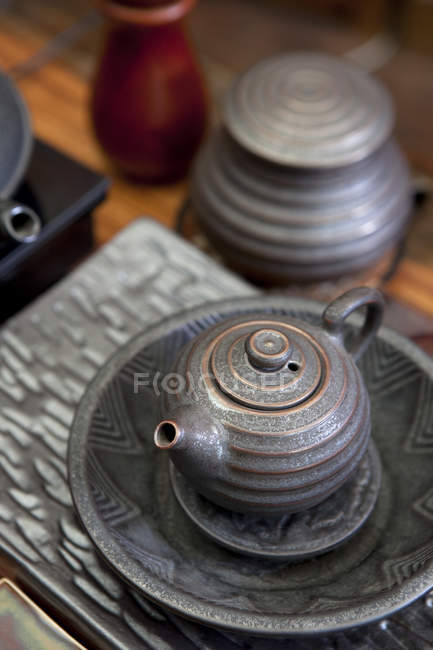 Traditional chinese teapot for tea ceremony — Stock Photo