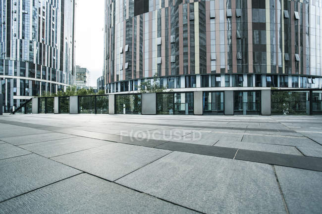 Scène urbaine de la zone piétonne dans le centre de Pékin, Chine — Photo de stock