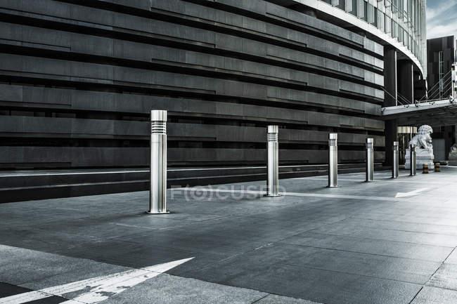 Vista ritagliata dell'architettura del centro di Pechino, Cina — Foto stock