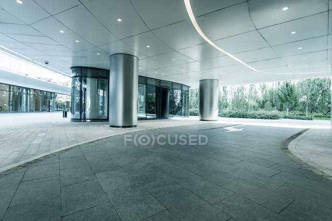 Partial view of contemporary skyscraper building in Wangjing, Beijing, China — Stock Photo