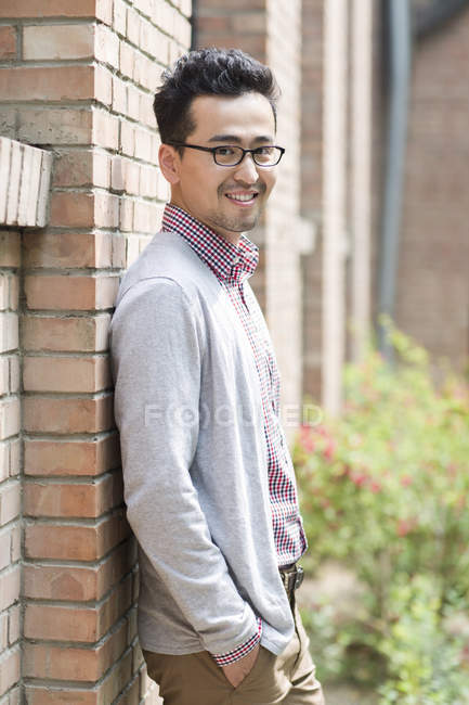 Portrait of mid adult chinese man — Stock Photo