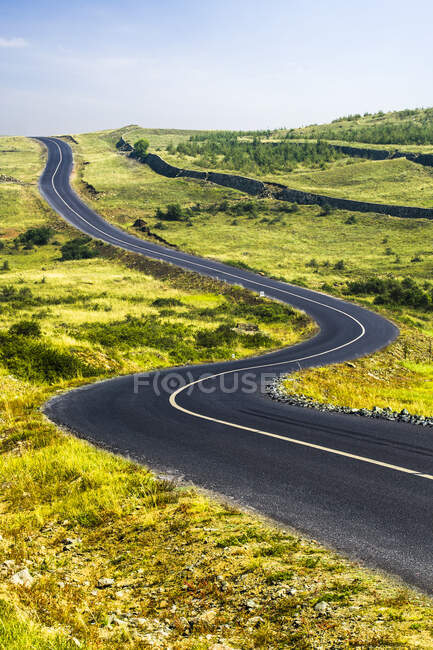 Scenic view of road in Hebei province, China — Stock Photo