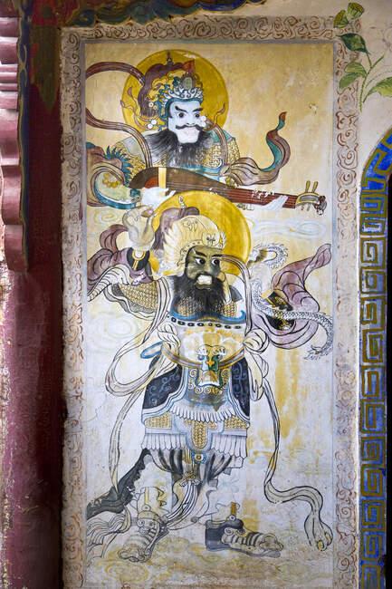 Antigua pintura mural china - foto de stock