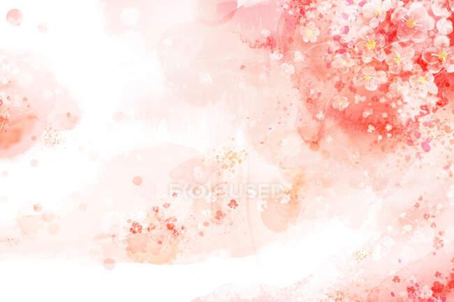 Водяний фон, квітучі персикові квіти — стокове фото