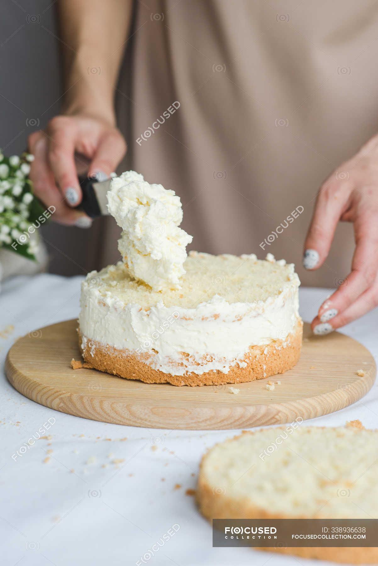 Astonishing Pastry Chef Preparing Naked Wedding Birthday Cake Candy Maker Personalised Birthday Cards Petedlily Jamesorg