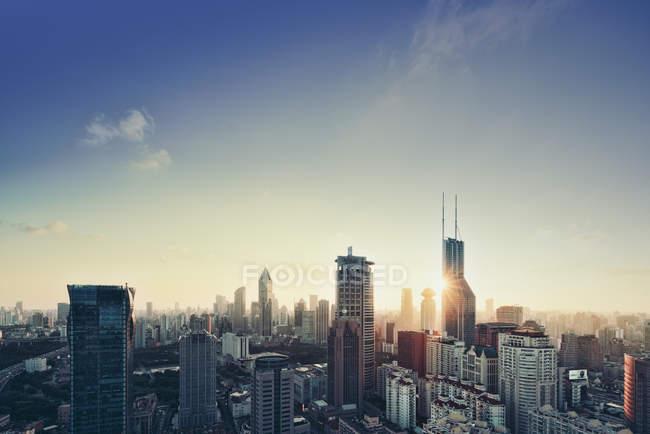 Xangai ao nascer do sol — Fotografia de Stock