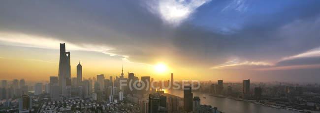 Vista panorâmica de Xangai — Fotografia de Stock
