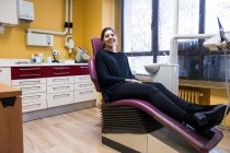 Patient waiting in chair — Stock Photo