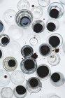 Окуляри з чорної кави і води — стокове фото