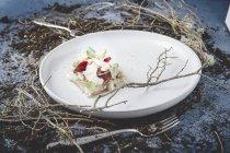 Köstliche Vorspeise auf weißem Teller — Stockfoto