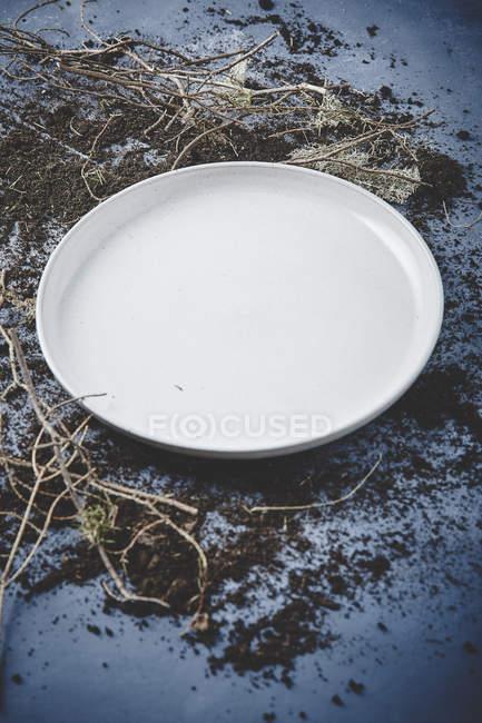 Placca bianca vuota — Foto stock