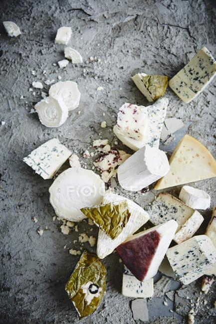 Variété de fromages gourmet — Photo de stock