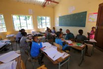 Школа в деревне Grashoek — стоковое фото