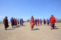 Village of maasai tribe — Stock Photo