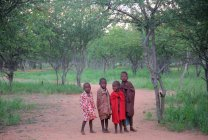 Kids in Village of Himba tribe — Stock Photo