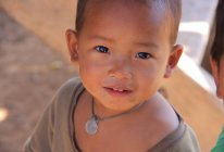 Unidentified Akha tribe boy — Stock Photo