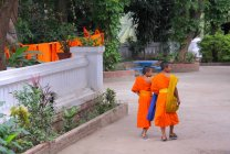 Buddisti a Luang Prabang, — Foto stock