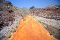 Fleuve jaune Ile Hormoz — Photo de stock