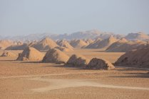 Kerman province-Shafi Abad village and Kaluts (Dasht-e Lut desert) — Stock Photo