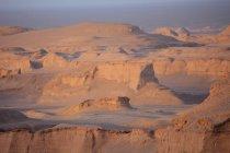 Kerman province-Shafi Abad village and Kaluts (Dasht-e Lut desert) — Stock Photo