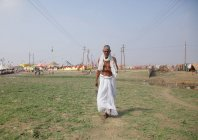 Unidentified local man at Kumbh Mela festival near Allahabad  ,INDIA ,Uttar, Pradesh state — Stock Photo