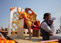 Натовп на фестивалі Kumbh Мела, у світі найбільше релігійних збір, у Аллахабад, Уттар-Прадеш, Індія — стокове фото