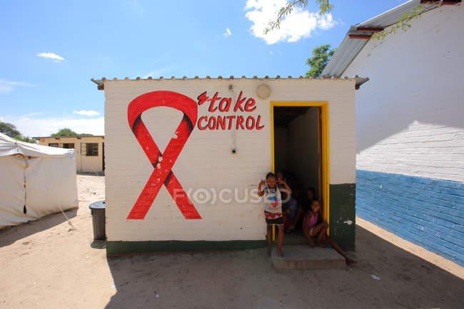 Escola em Grashoek aldeia — Fotografia de Stock