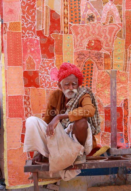 Old man in  Jaisalmer. India — Stock Photo