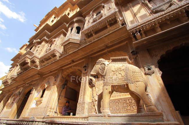 Vecchio Palazzo comunale all'interno del forte di Jaisalmer — Foto stock