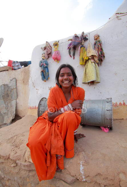 Happy smiling Indian woman — Stock Photo