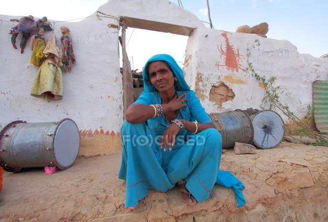Donna indiana seria — Foto stock