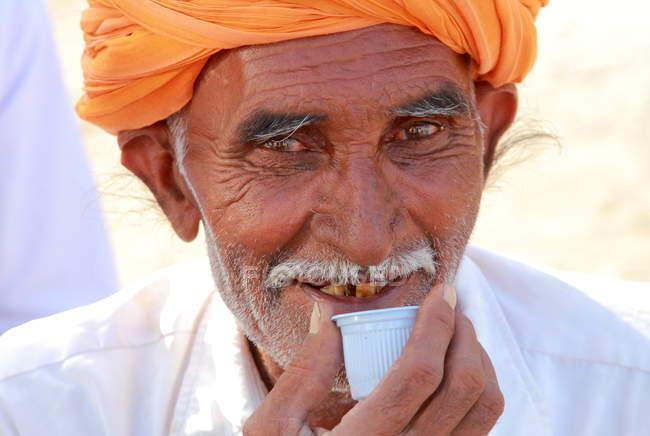Старший индеец — стоковое фото