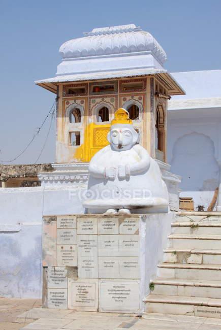 Tempel in Pushkar Stadt — Stockfoto