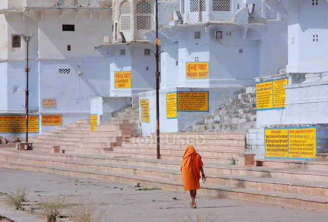 Mann in Pushkar Stadt — Stockfoto
