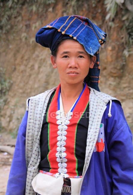 Mujer asiática en Luang Prabang - foto de stock