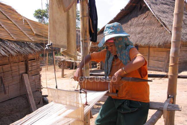Akha tribe woman  in Chiang Rai — Stock Photo