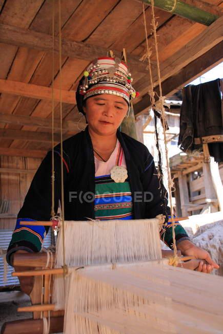 Mulher da tribo Akha em Chiang Rai — Fotografia de Stock