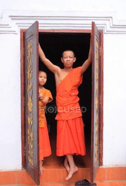 Buddhisten in luang prabang, — Stockfoto