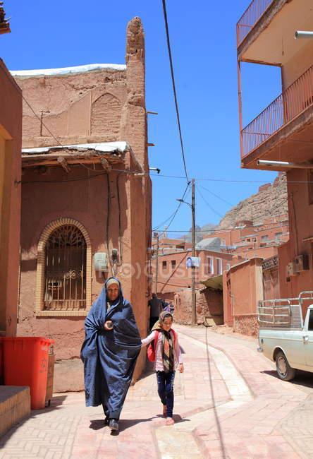Province d'Ispahan, traditionnel et historique village Abyaneh — Photo de stock