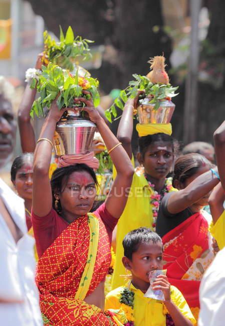 Местные жители штата Тамилнаду, село Чидамбаранатхапурам — стоковое фото