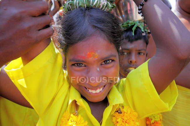Місцеве населення в Тамілнаду держави, с. Chidambaranathapuram — стокове фото