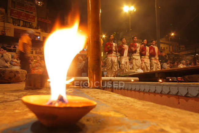 Невідомі місцевих жителів на фестивалі Kumbh Mela поблизу Аллахабад, Сполучені Штати Америки — стокове фото