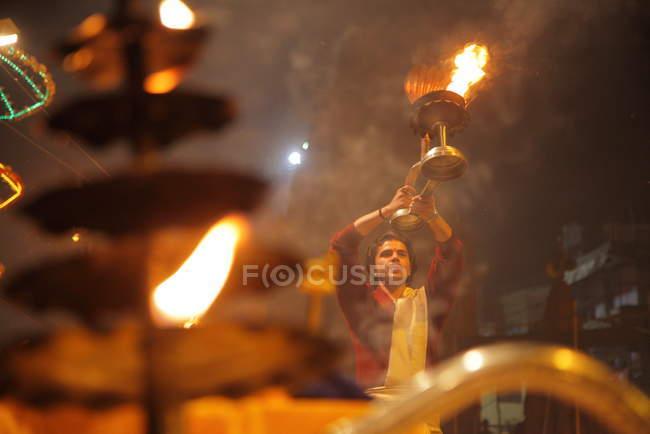 Невідомі індійського людина на фестивалі Kumbh Mela поблизу Аллахабад, Сполучені Штати Америки — стокове фото