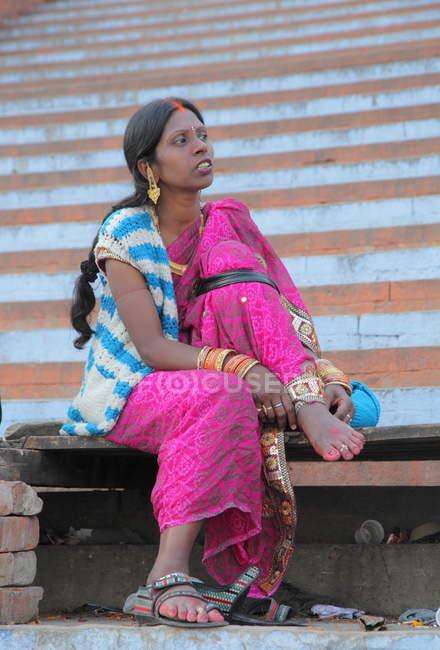 Невідомі місцевих жінка на фестивалі Kumbh Mela поблизу Аллахабад, Сполучені Штати Америки — стокове фото