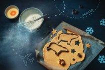 Kochprozess von arktischen cookies — Stockfoto