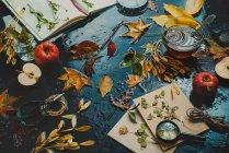 Automne nature morte aux livres — Photo de stock